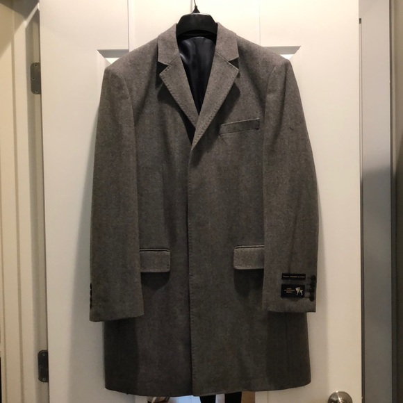 Hart Schaffner Marx Other - NWT Grey wool men's winter jacket made in Italy!